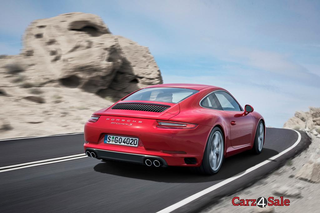 2016 Porsche 911 Carrera Turbocharged Rear View