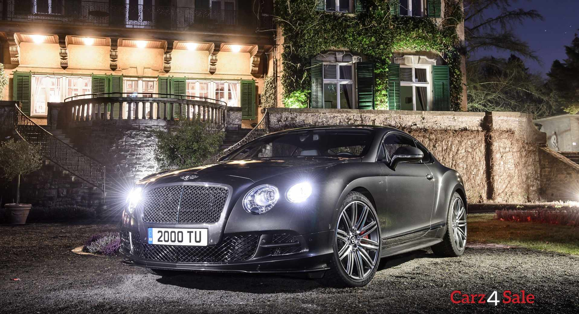 Bentley Continental Gt Speed Front Night View