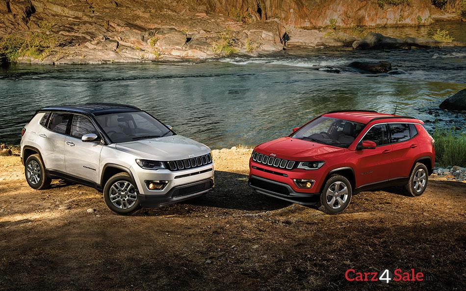 Jeep Compass Red And Grey